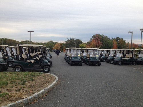 Over 50 carts were ready to roll as golfers swung for a cure.