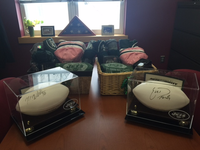 The New York Jets' contribution to the DWTT Silent Auction.